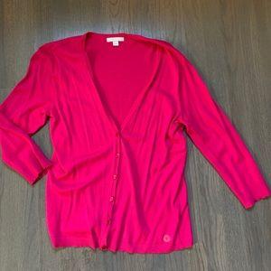 NY & CO Hot Pink Cardigan V Neck Sweater BRAND NEW